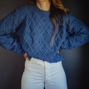 Vintage Sweaters - Vintage Pom Pom Sweater